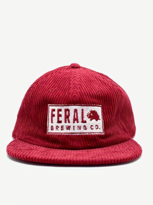 Red Feral Cord Cap